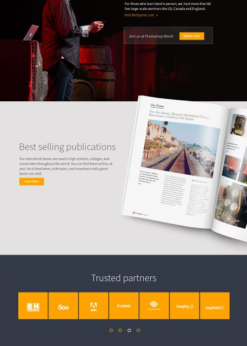 Kelbyone website design